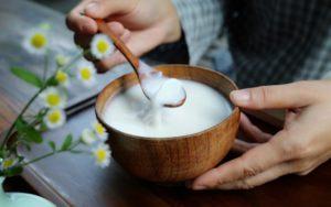 súp trứng sữa hạt nhân